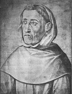 Fray Luis de León, descrito y dibujado hacia 1599