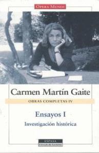 Cubierta de: Ensayos I. - O.C. IV - Carmen Martín Gaite