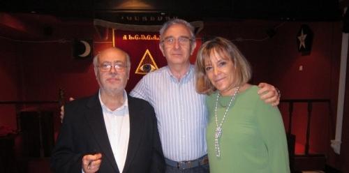 Con Sebastián Vázquez y Esther de Aragón
