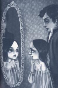 """Ilustración de Teresa Ramos para """"El espejo curvo"""", de Chéjov"""