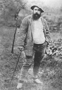 Retrato de Claude Monet. Fotografía realizada por Robinson en 1886