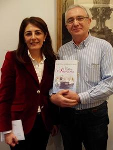 Con Almudena Martínez-Fornés