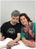 Juan Gómez-Jurado con Maudy Ventosa